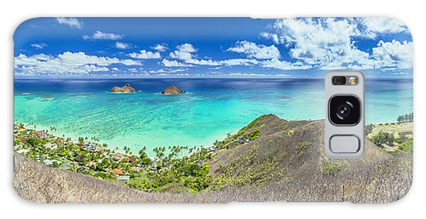 Lanikai Beach Panorama Galaxy Case