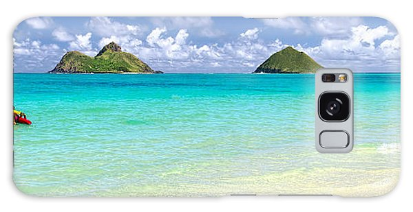 Lanikai Beach Paradise 3 To 1 Aspect Ratio Galaxy Case