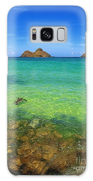 Lanikai Beach Sea Turtle Galaxy Case