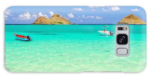 Lanikai Beach Two Boats And Two Mokes Galaxy Case by Aloha Art
