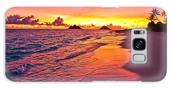 Lanikai Beach Winter Sunrise Rays Of Light Galaxy Case