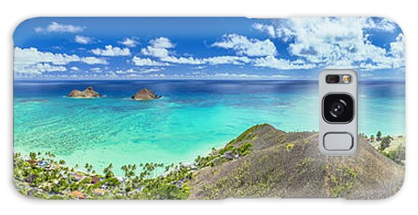 Lanikai Bellows And Waimanalo Beaches Panorama Galaxy Case
