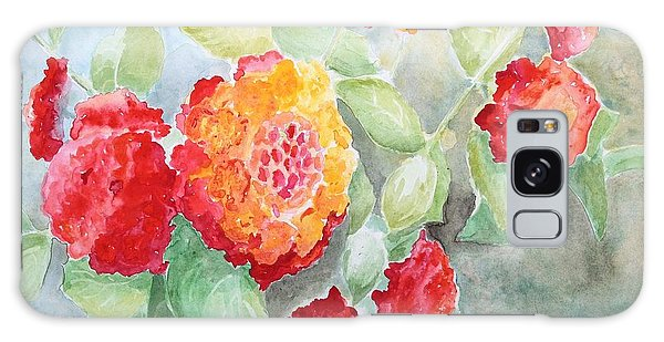 Lantana II Galaxy Case by Marilyn Zalatan