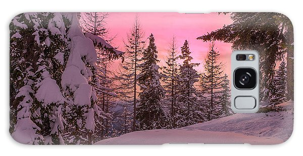 Lapland Sunset Galaxy Case by IPics Photography