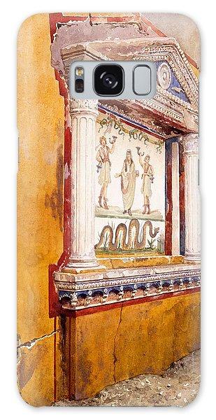 Decorative Galaxy Case - Lararium Of Family Altar, Seen In Situ by Luigi Bazzani