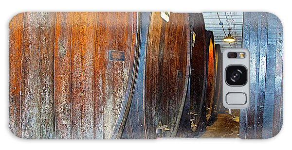 Large Barrels At Korbel Winery In Russian River Valley-ca Galaxy Case