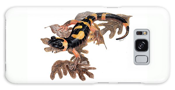 Large Blotched Salamander On Oak Leaves Galaxy Case
