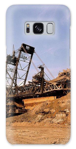 Excavator Galaxy Case - Large Bucket Wheel Excavator At Open Cast Coalmine by Tony Craddock/science Photo Library