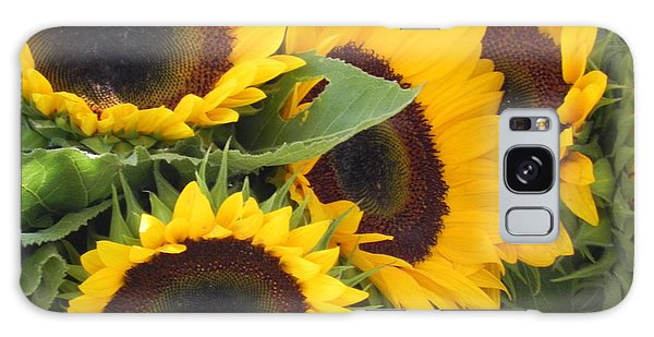Large Sunflowers Galaxy Case