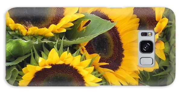 Large Sunflowers Galaxy Case by Chrisann Ellis