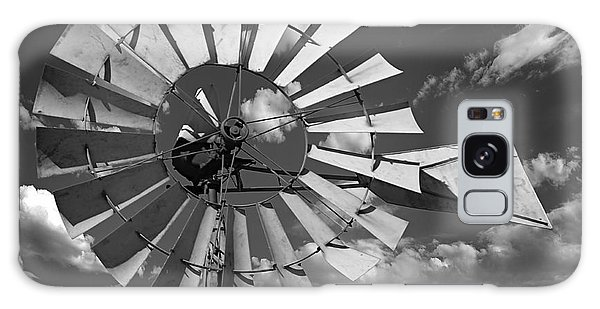 Large Windmill In Black And White Galaxy Case