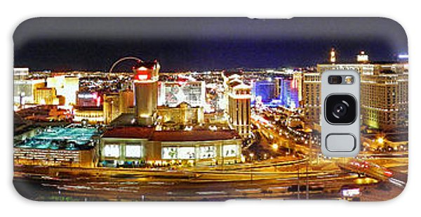 Las Vegas At Night - Panorama Galaxy Case