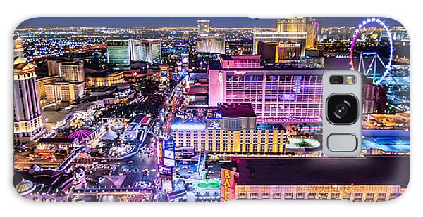 Las Vegas Strip North View 3 To 1 Aspect Ratio Galaxy Case