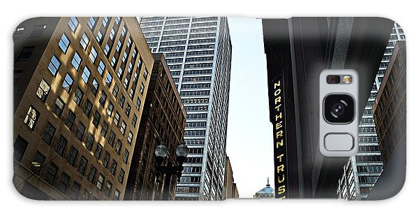 Galaxy Case featuring the photograph Lasalle Street by Gerald Greenwood