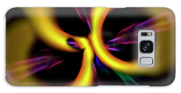 Galaxy Case featuring the digital art Laser Lights Abstract by Carolyn Marshall