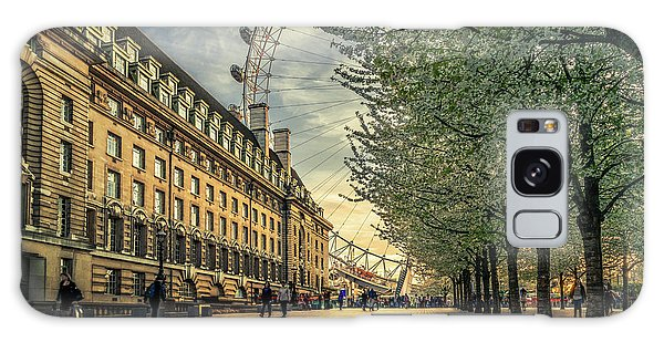 London Eye Galaxy Case - Last Daylights At The London Eye by Nader El Assy