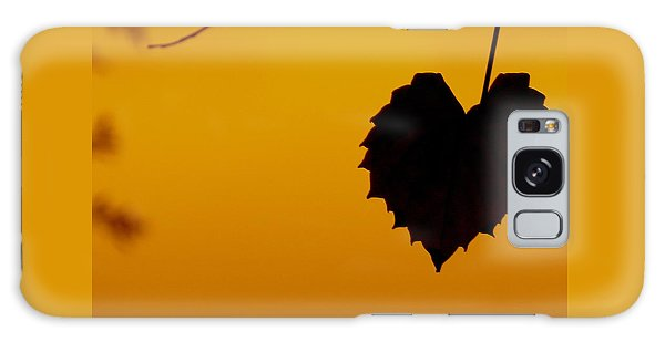 Last Leaf Silhouette Galaxy Case by Joy Hardee