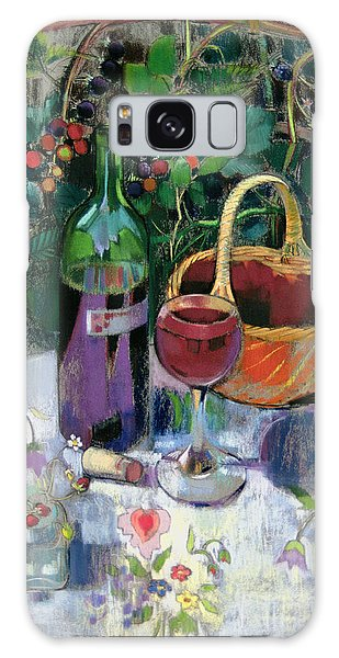Vase Of Flowers Galaxy Case - Last Of The Summer Wine Pastel On Paper by Claire Spencer