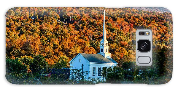 Last Rays Of Autumn Sun On Stowe Church Galaxy Case by Jeff Folger
