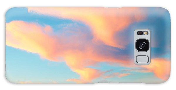 Fiery Sunset And Lenticular Cirrus Clouds - Newport Beach Backbay California Galaxy Case