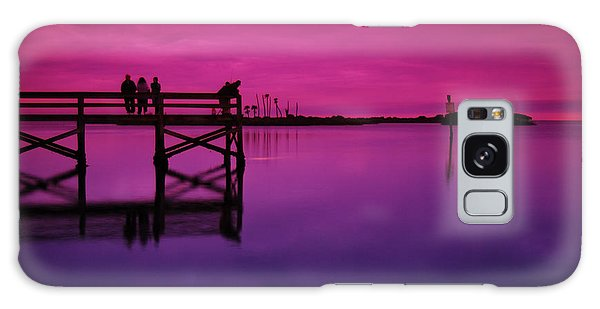 Last Sunset Galaxy Case by Beverly Stapleton