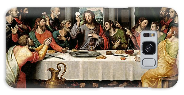 Last Supper Galaxy Case by Vicente Juan Macip
