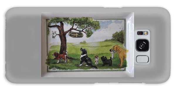 Last Tree Dogs Waiting In Line Galaxy Case by Jay Milo