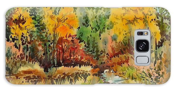 Latah Creek Fall Colors Galaxy Case