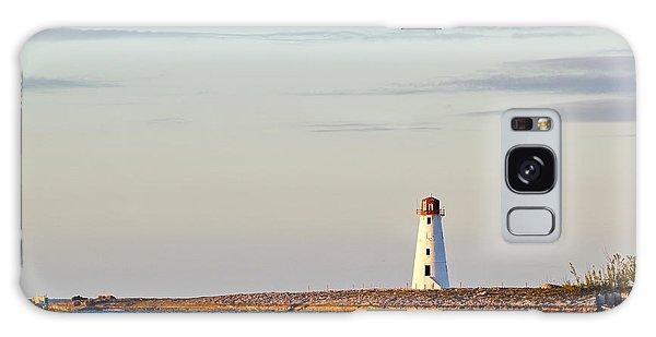 Late Afternoon At Hog Island Lighthouse On Paradise Island Baha Galaxy Case