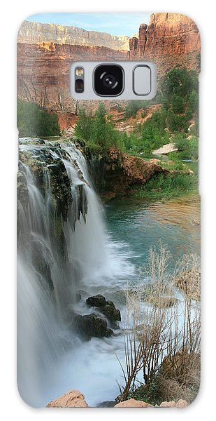Late Afternoon At Little Navajo Falls  Galaxy Case