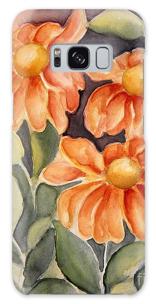 Late Autumn Flowers Galaxy Case