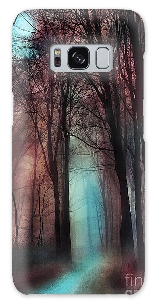 Late Autumn Moon Winter On The Way Galaxy Case