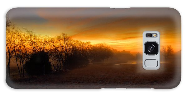 Late Autumn Sunrise Galaxy Case