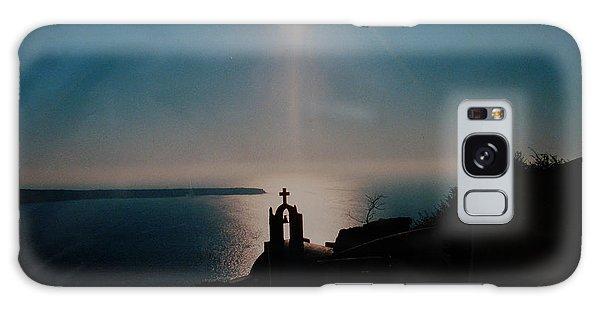 Late Evening Meditation On Santorini Island Greece Galaxy Case