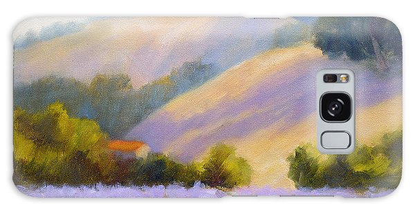 Late June Hills And Lavender Galaxy Case