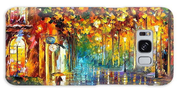 Abstract People Galaxy Case - Late Stroll Miami by Leonid Afremov