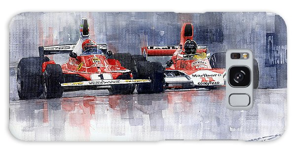 Car Galaxy S8 Case - Lauda Vs Hunt Brazilian Gp 1976 by Yuriy Shevchuk