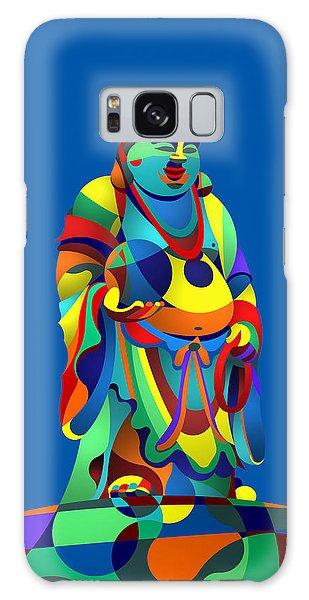 Laughing Buddha Blue Galaxy Case by Randall Henrie