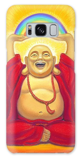 Laughing Rainbow Buddha Galaxy Case by Sue Halstenberg