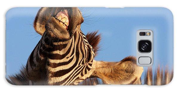 Laughing Zebra Galaxy Case by Nick  Biemans