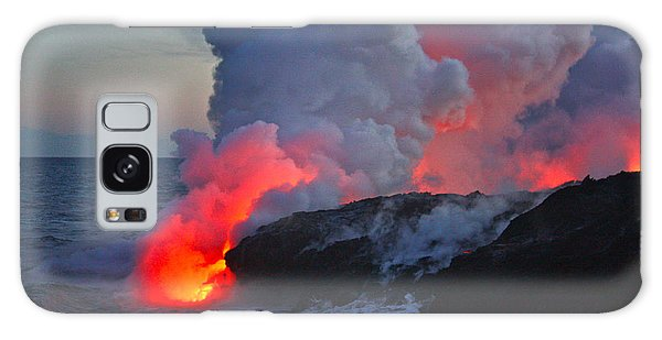 Lava Flow At Sunset In Kalapana Galaxy Case by Venetia Featherstone-Witty