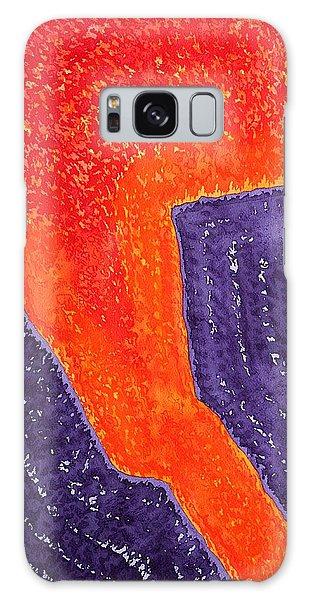 Lava Flow Original Painting Galaxy Case