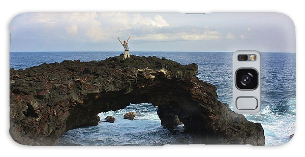 Lava Sea Arch In Hawaii Galaxy Case by Venetia Featherstone-Witty