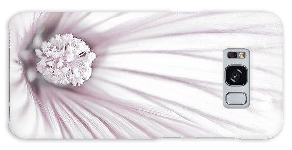 Lavatera Flower Stamen Macro  Galaxy Case by Sandra Foster