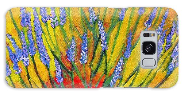 Lavender Afternoon Galaxy Case by Angela Annas
