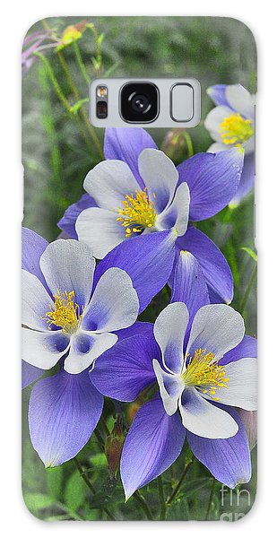 Galaxy Case featuring the digital art Lavender And White Star Flowers by Mae Wertz