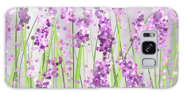 Lavender Blossoms - Lavender Field Painting Galaxy Case