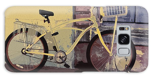 Lavender Door And Yellow Bike Galaxy Case