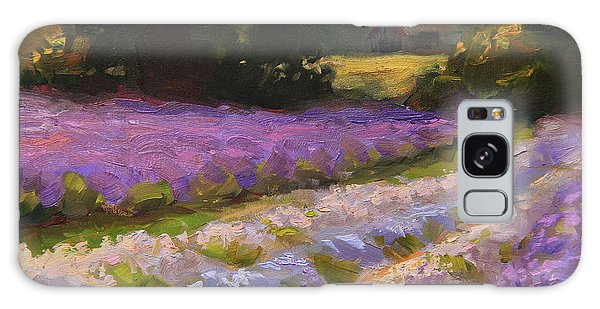 Lavender Farm Landscape Painting - Barn And Field At Sunset Impressionism  Galaxy Case