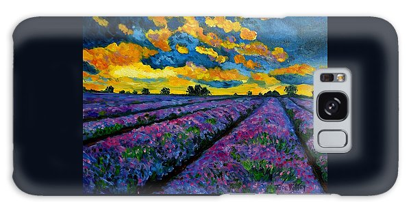 Lavender Fields At Dusk Galaxy Case